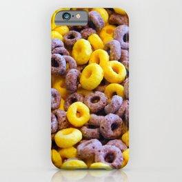 Breakfast Loops - Purple & Yellow iPhone Case