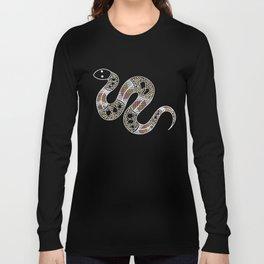 Aboriginal Art - Snake Long Sleeve T-shirt