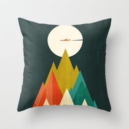 Life is a travel Throw Pillow