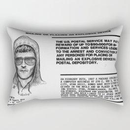 Unabomber Ted Kaczynski Wanted Poster 1 Rectangular Pillow