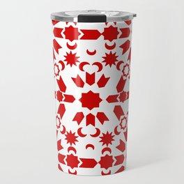 Red Arabesque Travel Mug