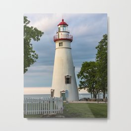 Marblehead Lighthouse at Lake Erie Sandusky area Ohio Metal Print