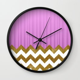 Pink Lodge Wall Clock