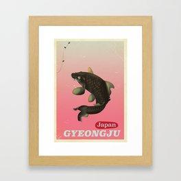 Gyeongju Korea travel poster Framed Art Print