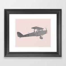 Modern airplane minimalist wall art Framed Art Print