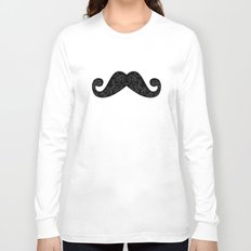 Dia De Los Mustache Long Sleeve T-shirt
