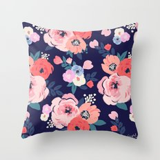 Aurora Floral Throw Pillow