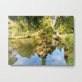 Japanese Garden Pond Metal Print