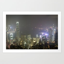 Hong Kong Night View 2014 Art Print
