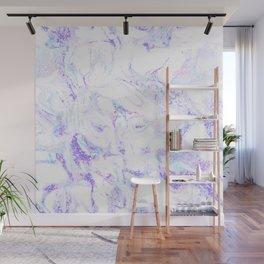 Pastel Marble Purple Blue Glitter Wall Mural