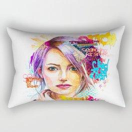 Pensive girl Rectangular Pillow