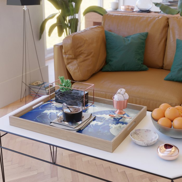 Waves Serving Tray