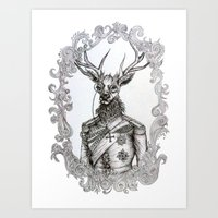 Oh Deer Lord Art Print