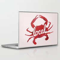 maryland Laptop & iPad Skins featuring Maryland Red Crab Local by O'Postrophy