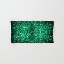 Beautiful Emerald Green glitter sparkles Hand & Bath Towel
