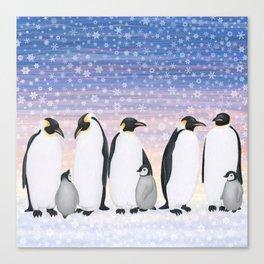 emperor penguin colony Canvas Print