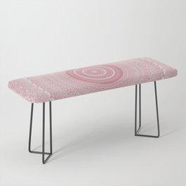 Boho Chic Glittery Pink Pastel Mandala Bench