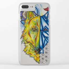 Wolf X Clear iPhone Case