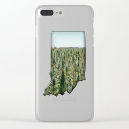 Green Indiana Clear iPhone Case
