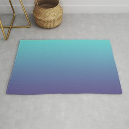 Ultra Violet Teal Ombre Gradient Pattern | Trendy color of the Year 2018 Rug