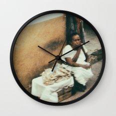 Mexican Street Vendor Wall Clock