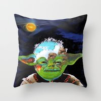jedi Throw Pillows featuring Forever jedi by Gabriela Trejo