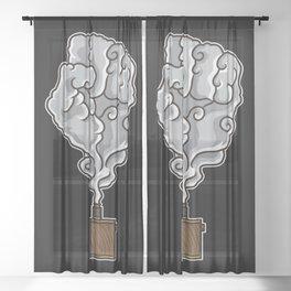 Vaping Fist Illustration | Cloud Chaser Unite Vape Sheer Curtain