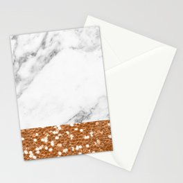 Marble and brass glitter Stationery Cards