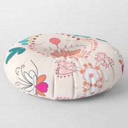 Peacock pair design Floor Pillow