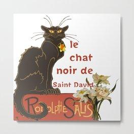 Le Chat Noir De Saint David De Rodolphe Salis Metal Print
