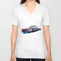 bmw V-neck T-shirts featuring BMW Art by SABIRO DESIGN
