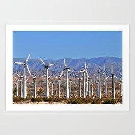 Windmills Palm Springs California  Art Print