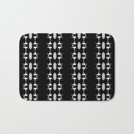 Barbed Wire Black and White Pattern Bath Mat