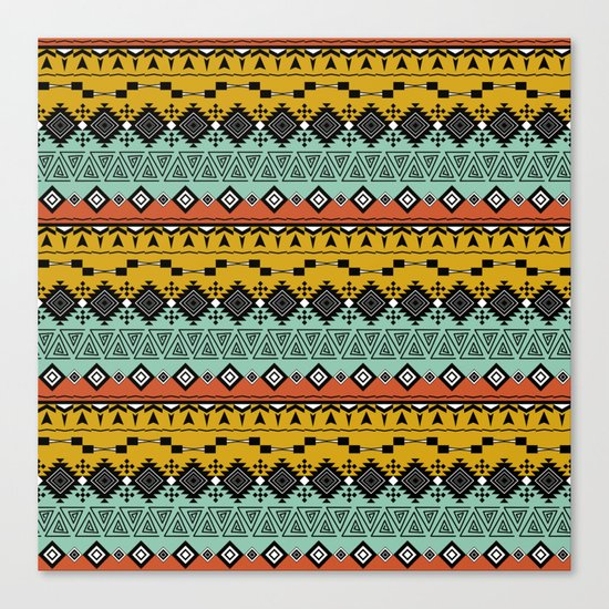 Colorful Aztec pattern. Canvas Print