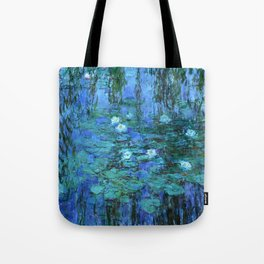 Claude Monet Water Lilies BLUE Tote Bag