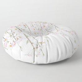pink cherry blossom spring 2018 Floor Pillow