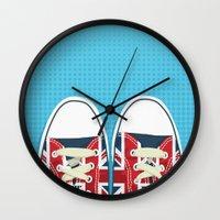british Wall Clocks featuring Casual British by Matt Andrews
