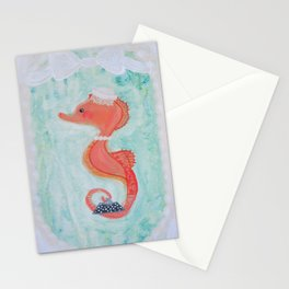 the fancy seahorse Stationery Cards