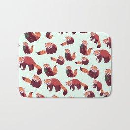 Red Panda Pattern Bath Mat