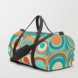 Orange and Turquoise Dots Duffle Bag