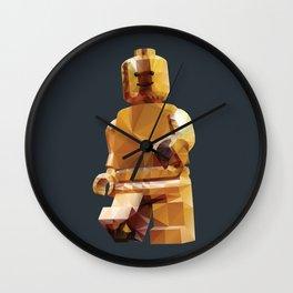 Golden LegoMinifigure Polygon Art Wall Clock