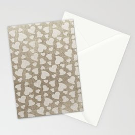 Canvas Design with Heart Shapes and a Great Texture Stationery Cards