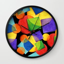Candy Rainbow Geometric Wall Clock