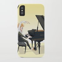 tim shumate iPhone & iPod Cases featuring Tim Minchin by Lesley Vamos