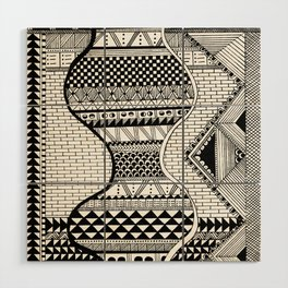 Wavy Geometric Patterns Wood Wall Art