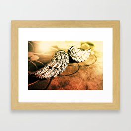 The Angel Has Landed Framed Art Print