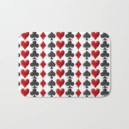 Card Symbols Bath Mat