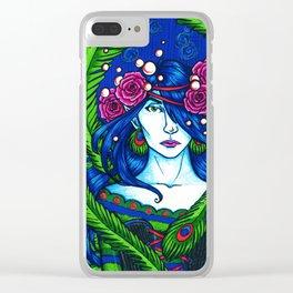 Peacock Fairy Clear iPhone Case