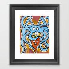 Eat Vegetarian Framed Art Print