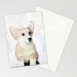 Corgi Puppy Stationery Cards